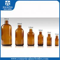 China Customized Round Boston Essential Oil Glass Bottle With Screw Cap 15ml 30ml on sale