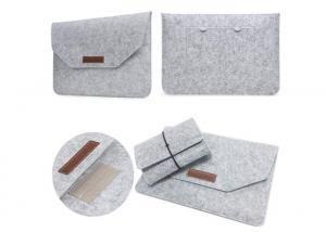 China Custom Portable Felt Laptop Bag For 13 Inch Macbook Air / Macbook Pro on sale