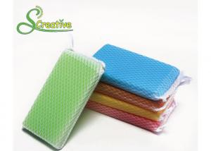 China PU Polyester Elastic Kitchen Scouring Pads , Dish Washing Sponge OEM Service on sale