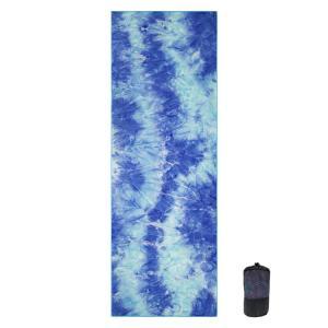 China Blue Washable Tie Dyed 61x183cm Non Slip Microfiber Yoga Towel on sale