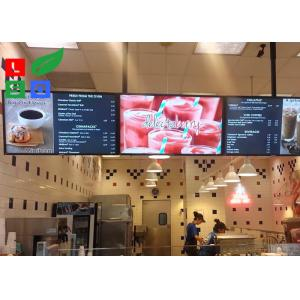 China 42 Inch LCD Advertising Display Monitor WiFi Control For Shop Menu Image Display on sale