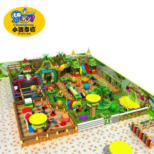 China Colorful Kids Indoor Playground Equipment Capacity 70 Children Per 100 Square Meters on sale