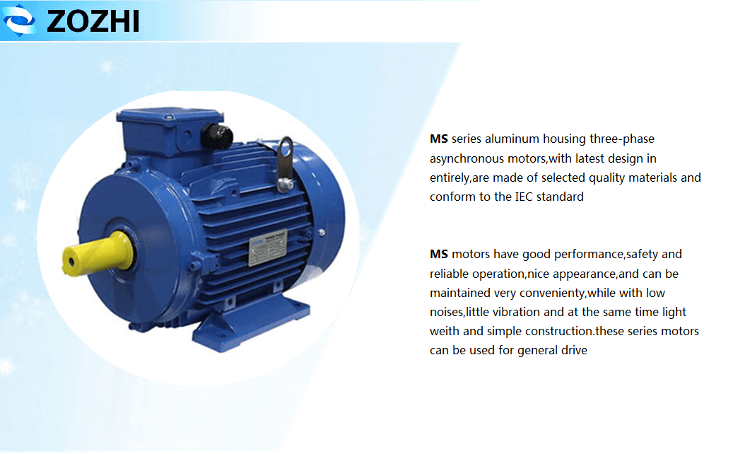 Capacitor Running 3 Phase Induction Motors 4kw 5 5hp 960rpm