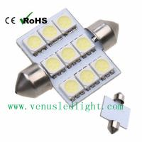 China 39MM 31mm 6W White LED Festoon 9SMD 5050 Dome Map Light Car Interior Lamp on sale