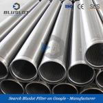Stainless Steel Continuous Slot Wire Wrapped Well Screens Casing Pipe
