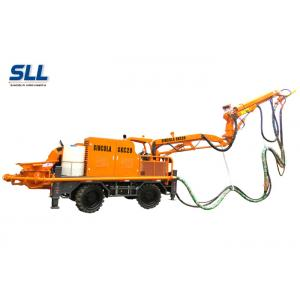 China Robotic Telescopic Arm Concrete Pumping Machine For Mine / Tunnel / Construction on sale