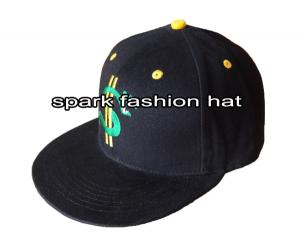 Quality High quality cotton embroidered flat peak hip hop snapback cap for sale