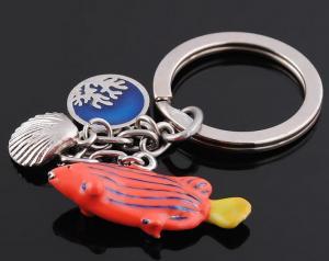 China Lazy Fish keychain, animal keychain, gift keychain, metal keychain, promotional keychain on sale