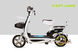 China 48V 350W  20Ah battery small lovely scooter style pedal assist electric bike/bicycle with long travel distance on sale