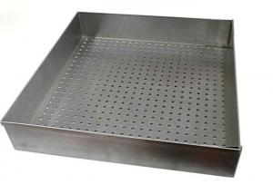 China Food Grade 14 Inch Stainless Steel Wire Mesh Trays For Baking / Drying on sale