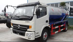 China DONGFENG 6m3 (6000L) Suction Sewage Truck/4x2 140hp Cummins engine on sale