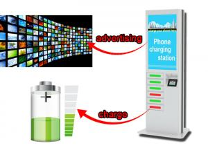 China Commercial Advertising Cell Phone Charging Station Kiosk, 42 Inch LCD Screen Digital Signage on sale