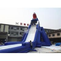 China Commercial Giant Sharp Long Inflatable Slip N Slide for Kids / Adult Aqua Park on sale