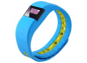 China Cool Adjustable Smart Sports Bracelet Light Blue Bluetooth Wristband on sale