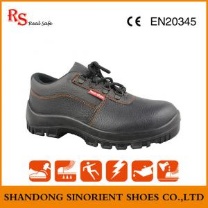 China Good quality cheap price steel toe Pu sole  industrial safety shoes with good quality cow leather upper on sale