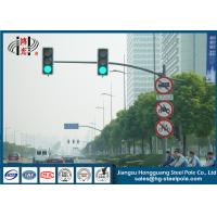 Outdoor Single Arm Galvanized Traffic Light Post Energy Saving