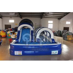 China Blue Inflatable Backyard Water Slide on sale