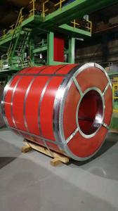 China Red Colour Coated Steel Coils , Decoration Material Hot Dip Galvanized Coils on sale