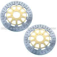 Front Round Motorcycle Brake Disc Rotor With Aluminum Alloy Stainless Steel