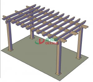 China DIY Recyclable 100% Pergola Canopy Kit , Free Standing Pergola With Canopy Color Stability on sale