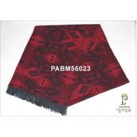 Dark Red Woven Silk Scarf Wide 30x165cm For Girl