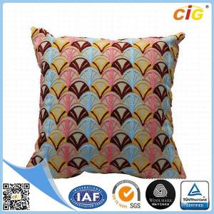 China Red Grey Blue Green Embroidered Decoration Throw Pillows for Bed on sale