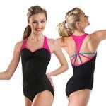 China 2014 New adult ballet leotard with T-back two-tone color gymnastics leotard dance wear on sale