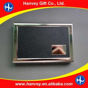 China Promotional gift stainless steel business name card holder on sale