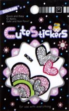 China Removable custom window decal glitter stickers for promotional gifts on sale
