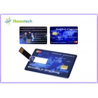 Promotional Credit Card USB Storage Device Ultra Thin Credit Card Shaped Customized Logo