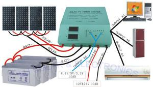 China Off - Grid Solar Electric System / House Solar System With 48v Batteries 20A Inverter on sale