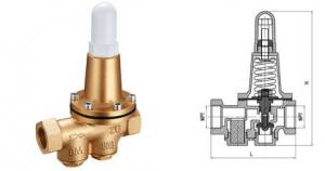 China 200P Brass Pressure Reducing Valves DN20 DN25 Conect by Thread BSP or NPT on sale