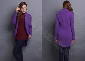 China Womens Cardigan Sweaters Solid Color Shawl Collar Long Sleeve on sale