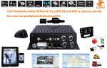 Compressão video móvel do disco duro H.264 do carro DVR 4-CH do ônibus/táxi