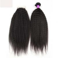7A 100% Virgin Natural Black Double Drawn Human Hair Extensions Tangle Free