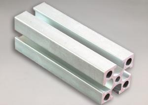 China Silver White Electrophoresis Aluminium Moulding Profiles , Aluminum Extruder on sale