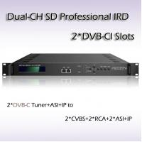 Digital TV SD Professional Two-Channel DVB-C Input TS Over IP Output IRD RIS1502