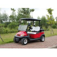 Two Passenger Electric Motor Golf Cart Red Color With Plastic Bodywork