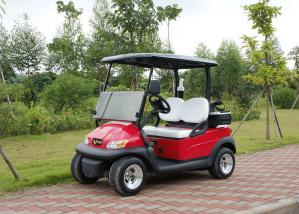 China Two Passenger Electric Motor Golf Cart Red Color With Plastic Bodywork on sale