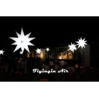 Hot Inflatable Star with 16-color LED Light for Event and Dinner Decoration