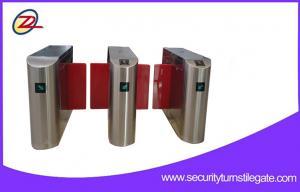 China Intelligent Sliding Turnstile Gate / IR Sensor Alarm Entrance Barrier Turnstile on sale