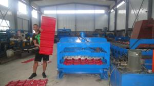 China Roof Panel Automatic Cold Roll Forming Machine With Forged rollers and shafts on sale