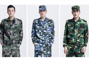 China Long Sleeve Waterproof Army Military Uniforms , Medium Thickness Army Camouflage Jacket on sale