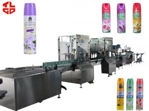 China Aerosol Filling Equipment For Deodorant / Air Freshener on sale