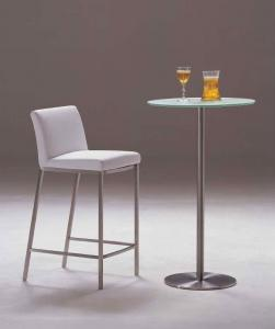 Quality Modern Metal Bar Chair, Upholstered Contemporary Dining Room Chair for sale
