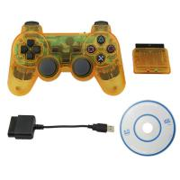 Crystal Yellow 3 in 1 Wireless Bluetooth Joystick for PS2/PS3/PC Controller Gamepad for PS2/PS3/PC Game Console