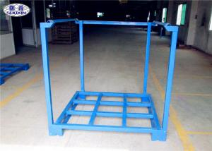China Cargo Forklift Stacking Pallet Racks Durable Galvanized Iron Steel Save Space on sale