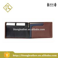 cow leather wallet wholesale travel passport holders slim wallet with business card holder, pen, sim card holder