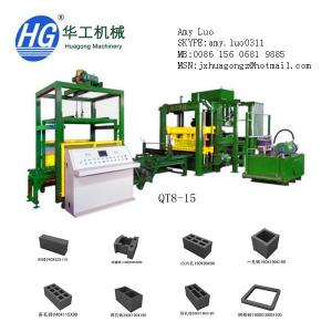China QT8-15 high speed fly ash brick making machine block machine in china on sale