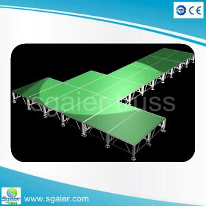 China Aluminum outdoor stage with portable stairs on sale